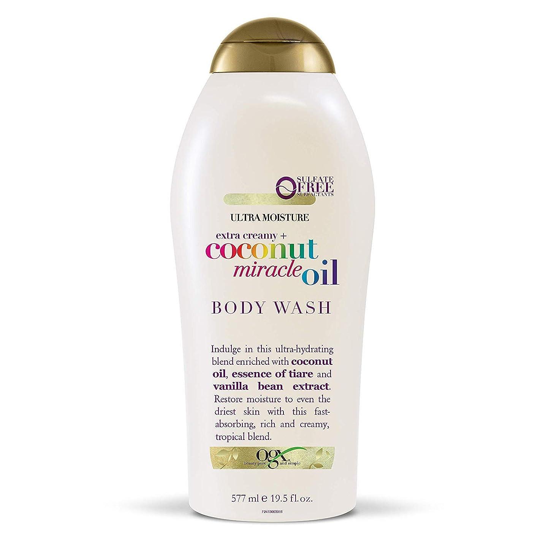 以上爆弾同等のOgx Body Wash Coconut Miracle Oil Extra Strength 19.5oz OGX ココナッツミラクルオイル エクストラストレングス ボディウォッシュ 577ml [並行輸入品]
