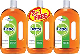 Dettol Antiseptic Disinfectant - Pack of 3 Pieces (3 x 1 Liter)