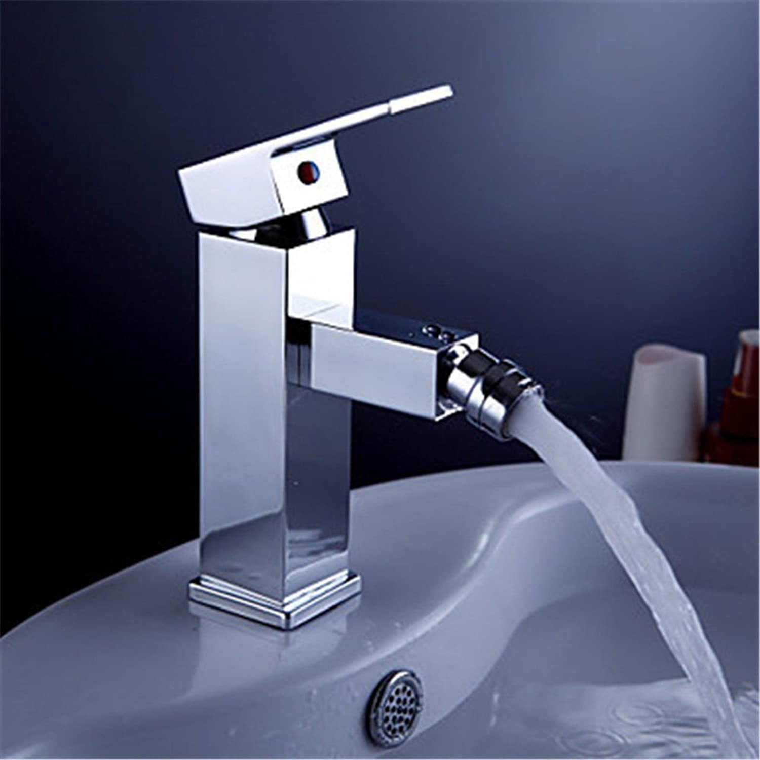 Oudan Basin Mixer Tap Bathroom Sink Faucet Single Handle chrome plated faucet basin mixer full copper hot and cold water on tap basin mixer bathroom sink Faucet