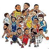 DUOYOU /Set Sport Basket Ball Players Pegatinas Impermeable Pvc Pegatinas Juguetes Niños Portátil Jarra Botella...