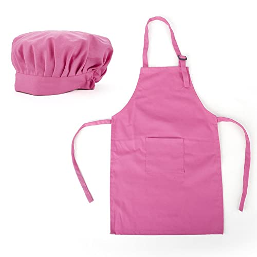 1b90ca27cfe Opromo Children s Apron Set of Colorful Cotton Canvas Kids Aprons and Hat  Set