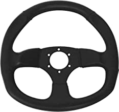 Dragonfire Racing D-Shaped Steering Wheel (Vinyl/No Offset) (Black)