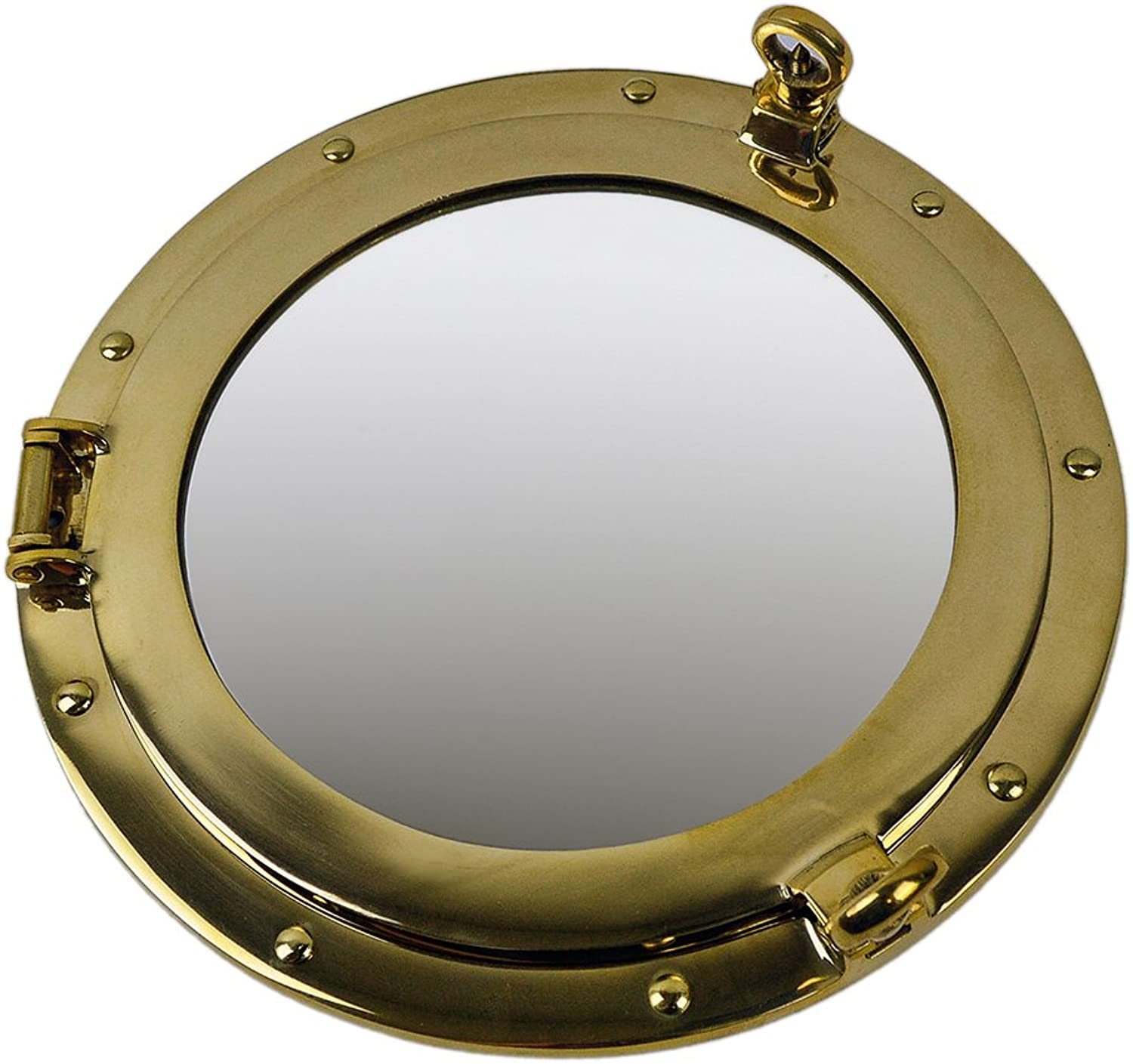 12  Solid Brass Wall Mount Porthole Mirror