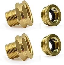 Brass Pipe Fittings,3/4 in.GHT Female 1/2 NPTF Male