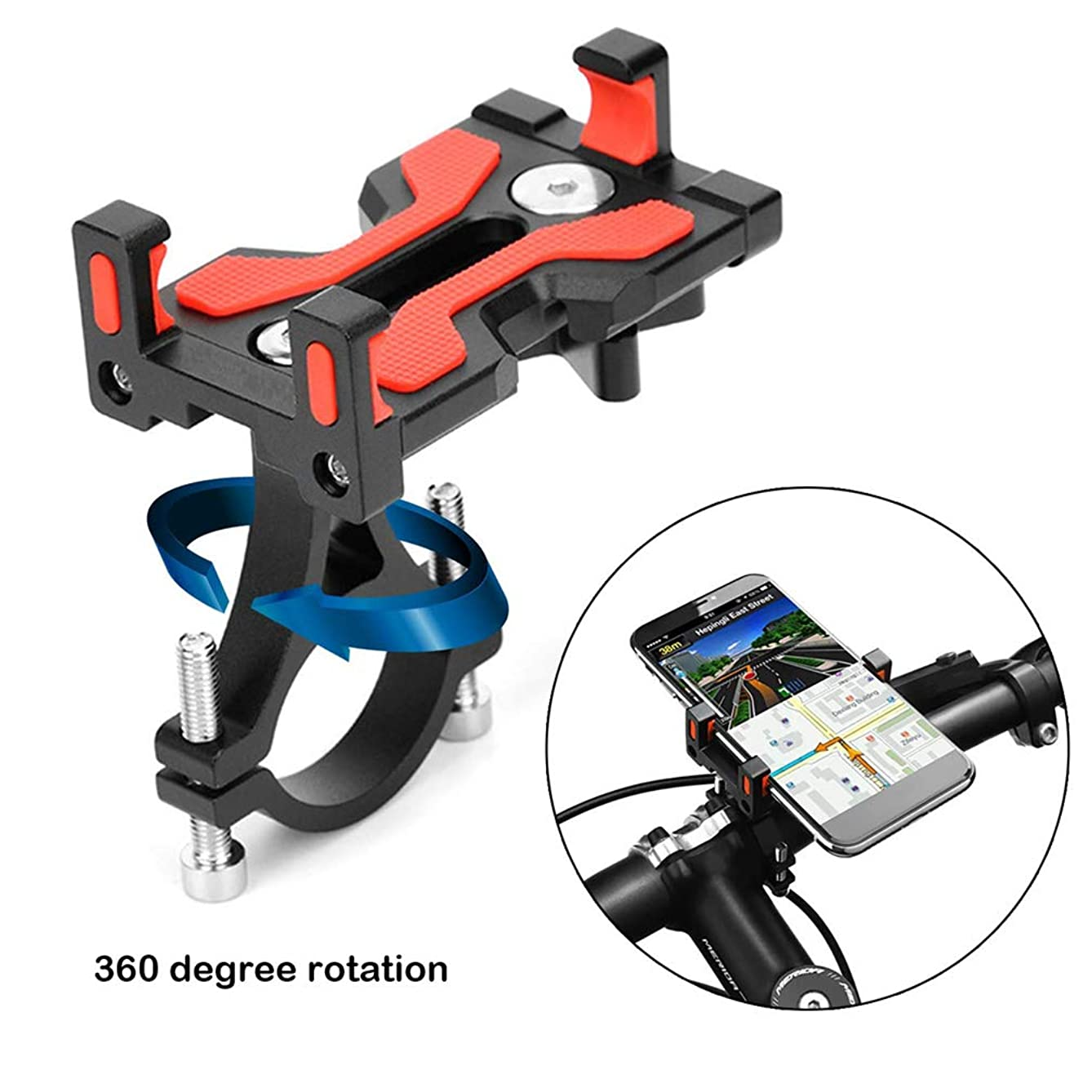 Price Xes Bike Phone Mount Holder, Metal MTB Bike Bicycle Phone Handlebar Stem Mount/Bike Accessories, Anti Shake & Stable Cradle Clamp Smartphone Support for Devices 4 to 6.4 inches