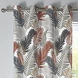 Fusion - Tropical - Par de Cortinas de 100% algodón, 168 x 229 cm, Color Cobre