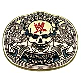 Loot Crate WWE World Heavyweight Champion Smoking Skulls Pin- Special Edition Metal Collectible Pin- Authentic Raw WWE Championship Belt Pin