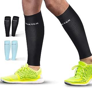 BERTER Calf Compression Sleeves - Leg Compression Sleeve Socks for Shin Splint Calf Pain Relief (20-25mmhg) - Men Women Calf Guard for Running, Cycling, Travel, Sport