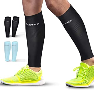 BERTER Calf Compression Sleeves - Leg Compression Sleeve Socks for Shin Splint Calf Pain Relief (20-25mmhg) - Men Women Calf Guard for Running, Cycling, Travel, Sport