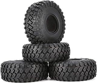 Austarhobby Ax-7020 4Pcs 1.9 Inch 122Mm 1/10 Rock Crawler Rubber Tires for D90 Trx4 Scx10 Axial Tf2 RC Car Accessories