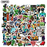 100PCS Minecraf_t Stickers Gaming Stickers Vinyl Laptop Waterproof Stickers Water Bottle Skateboard Stickers for Kids Teens Adults