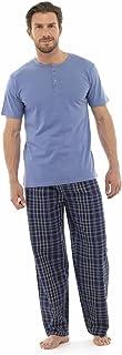 Tom Franks Mens Jersey Cotton Check Pyjama Lounge Wear