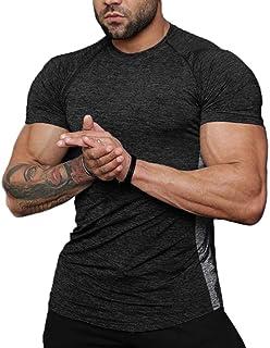 COOFANDY Men's Athletic Workout Sport Quick Dry Active Tech Short Sleeve T-Shirt