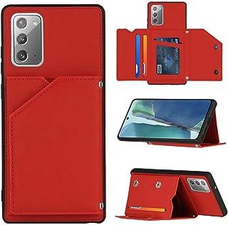WJMWF Hoesje voor Samsung Galaxy S21 Ultra 5G [Screen Protector] PU Leder Etui Hoezen Portemonnee [Twee Magnetische Sluiti...