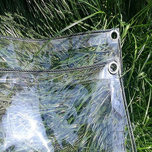 lona impermeable , lona de protección con ojales ,PVC lona de protección resistente,para Cobertizo de Balcón, Cobertizo de Jardín, Refugio de Plántulas, Plantas de Flores, 0.3 mm, 400 g / m²-2