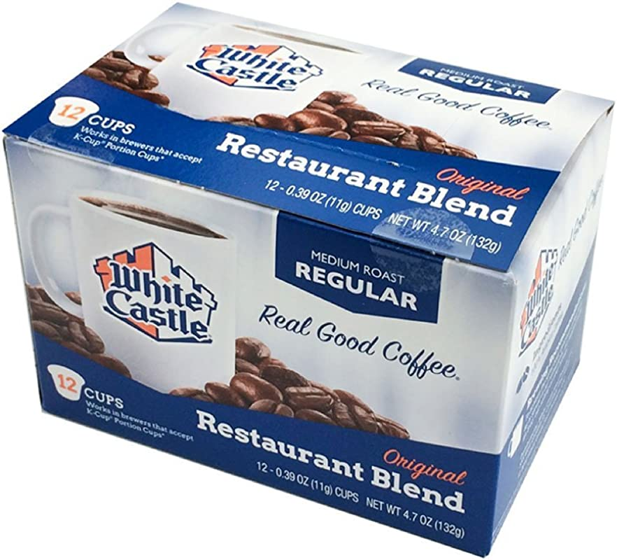 White Castle Restaurant Blend Coffee K Cups Medium Roast Regular 12 Count 6 Boxes