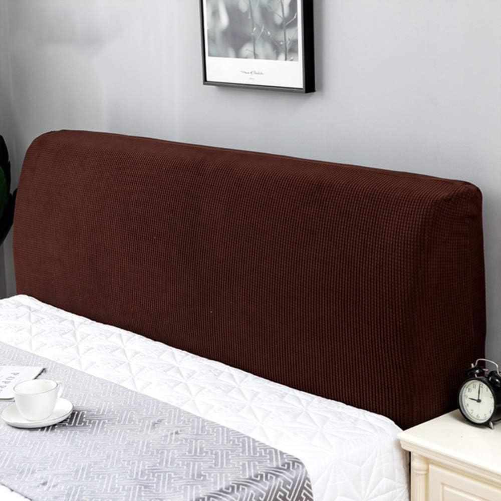 Fodera Elastica Protezione Jacquard#Marrone,120-140cm papasgix Copertura per Testiera per Letto Fodere Copritestata per Letto Matrimoniale Tessuto in Jacquard Protezione Elastica Lavabile