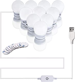 Upgraded Hollywood Style LED Vanity Mirror Lights Kit, Dimmable Mirror Light Bulbs, Makeup Light Strip for Dressing Table,...