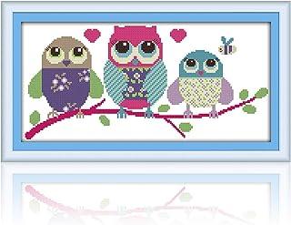 MWOOT DIY Kit Broderie Point De Croix,11CT Cross Stitch Embroidery Starter Kit,Kit de Couture à la Main pour Adultes(48x24...
