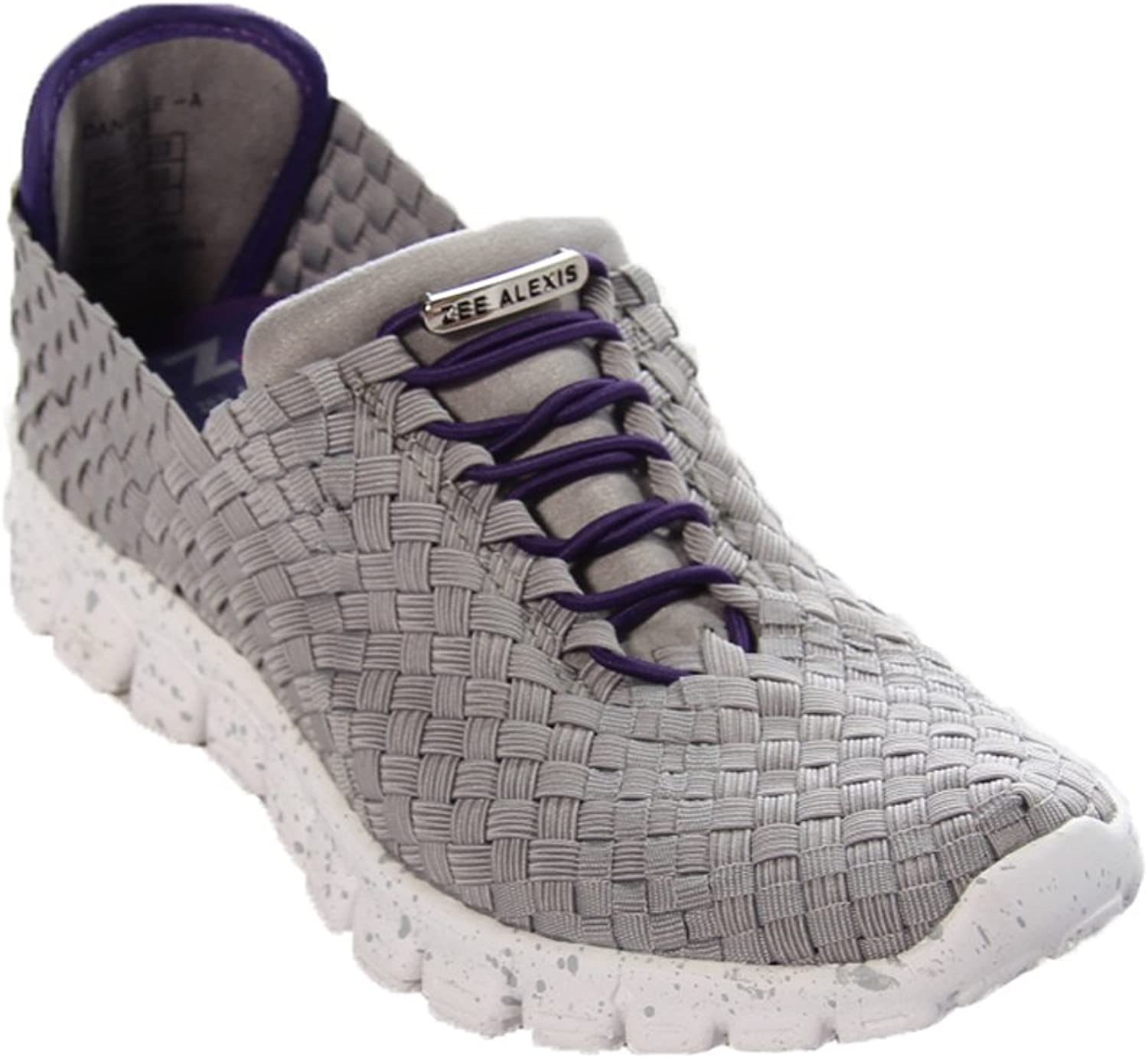 Zee Alexis Danielle in Grey with Purple Trim