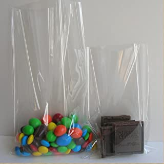 """Weststone - 100pcs 4"""" X 6"""" - 1.5 Mil Flat Top Open Cello Bags Treat Bags with 4"""" Twist Ties for Wedding Birthday Party Cake Pop Candy"""