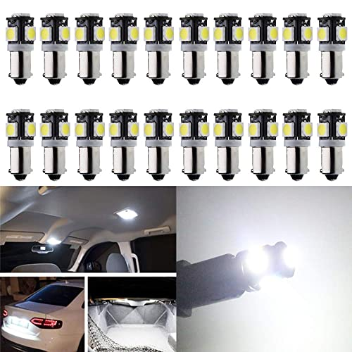 WLJH 4pcs Ice Blue BA9 BA9S T4W 53 57 1895 64111 LED Bulbs 9 SMD 2835 Chipsets LED Replacement Bulbs Side Door Courtesy Light Map Glove Box Trunk Compartment Under Hood Lights Clearance Marker Light