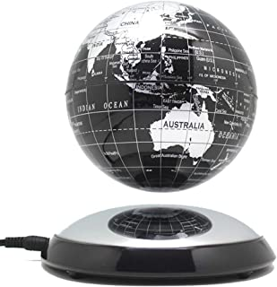 Magnetic Levitating Globe, 6 Inch Creative Magnetic Levitation Floating Globe World Map The Best Desktop Decor Christmas Company Anniversary Gift,Black