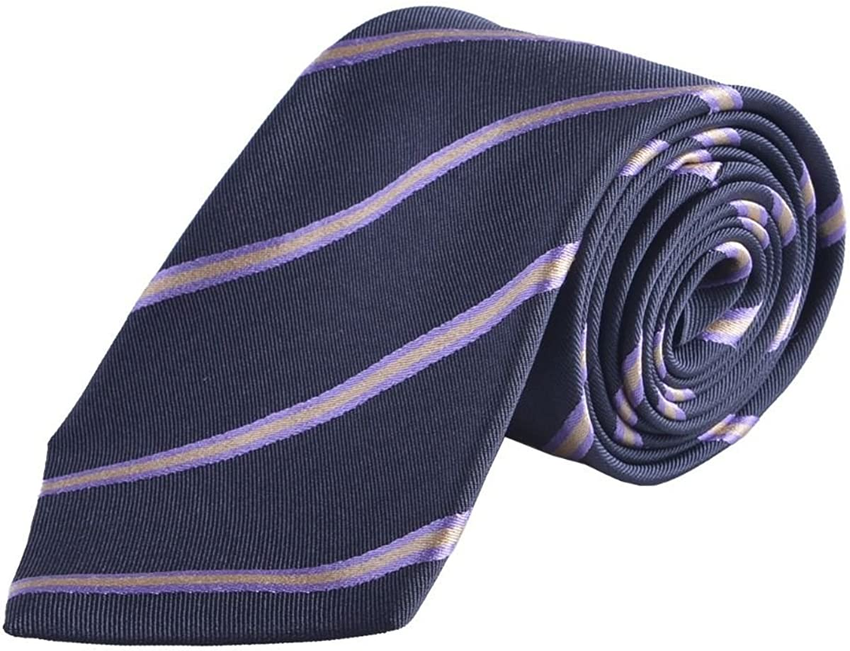 Pringle Of Scotland Men's 100% Silk Multi-Color Striped Neckwear Tie Cravat