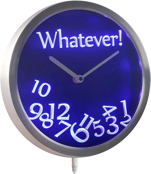 ADVPRO Nc0464 B Whatever Time Bar Beer Retire Gift Decor Neon LED Wall Clock