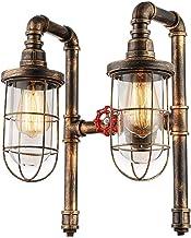 Mopoq Wall Lamp, Retro Style, Bar, Cafeteria, Balcony, Retro Restaurant Bar, Double Head Hose, Creative Wall Lamp