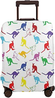 Travel Luggage Cover,Wildlife Concept Of Vibrant Color Hand-Drawn Animal Figures In Random Sequence Suitcase Protector