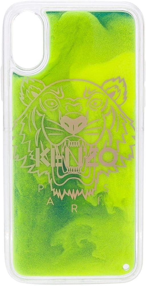 Kenzo luxury fashion,cover verde in pvc 100%,modello iphone x/xs FA5COKIFXSAN39
