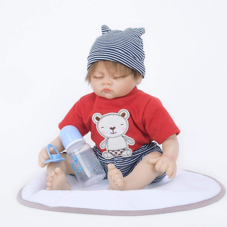 Hongge Reborn Baby Doll,Sieht Real Reborn Puppe Spielzeug Neugeborene Puppe Spielzeug Geschenk 55cm