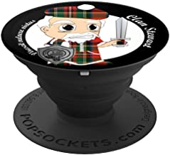 Stewart surname last name Scottish Clan tartan badge crest PopSockets Grip and Stand for Phones and Tablets