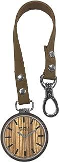 Dakota Genuine Hardwood Pocket Watch with Tan Leather Strap Unisex