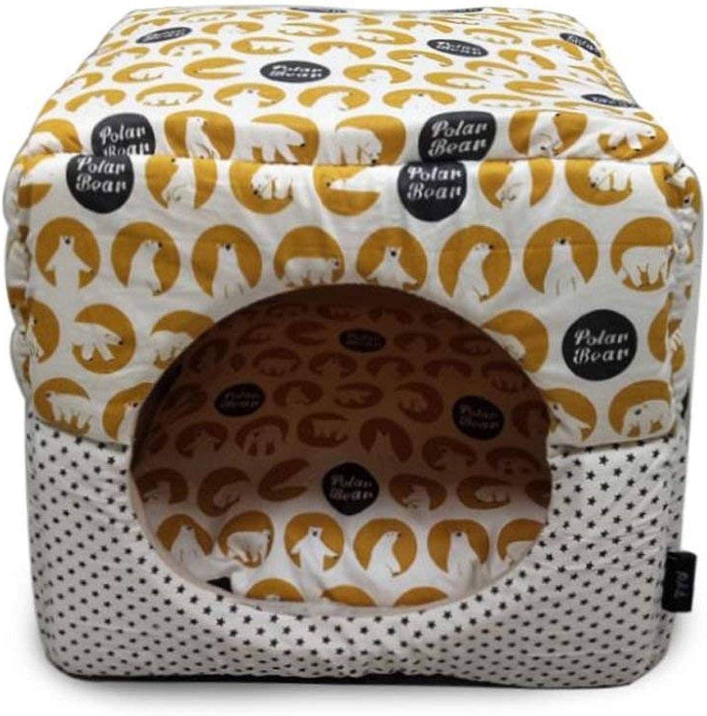 Dog Bed Pet House Kennel Cat Dog House Puppy Nest Sleeping Bag Keep Warm Pet Supplies,C