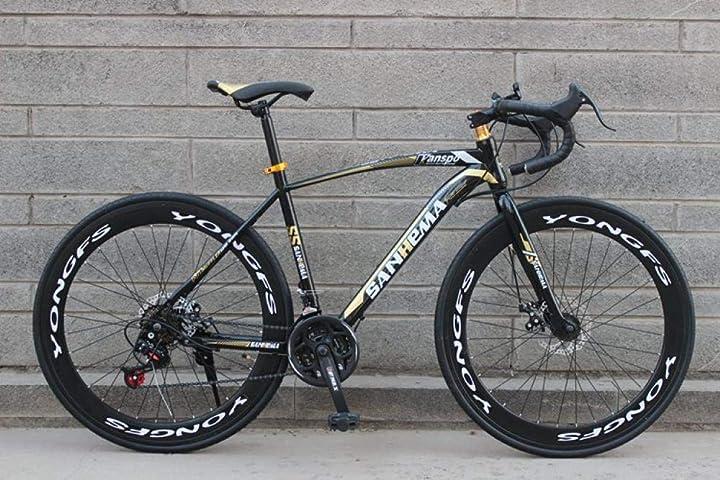 Bici da corsa sanhema - con telaio in acciaio ad alto tenore di carbonio, bici da città 700c ? 21 velocità 9866554375602