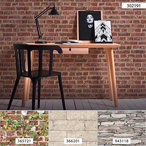 Stein-Tapete rot braun | Industrial-Tapete Stein 30219-1 | Papiertapete Steinoptik für Wohnzimmer 302191 | Steinoptik-Tapete günstig online kaufen!