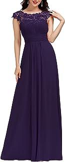 Ever-Pretty Vestiti da Sera e Cerimonia Donna Linea ad A Elegante Stile Impero Chiffon Abiti da Damigella d'Onore 09993