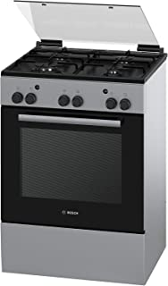 Bosch Serie | 2, 60X60 cm 4 Gas Burners Free Standing Gas Cooker, Stainless Steel - HGA233150M, 1 Year Warranty