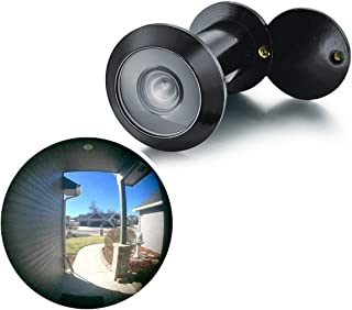 TOGU TG3016YG-BC UL Listed Solid Brass HD Glass Lens 220-degree Door Viewer Peephole with Heavy Duty Privacy Cover for 1-3/8