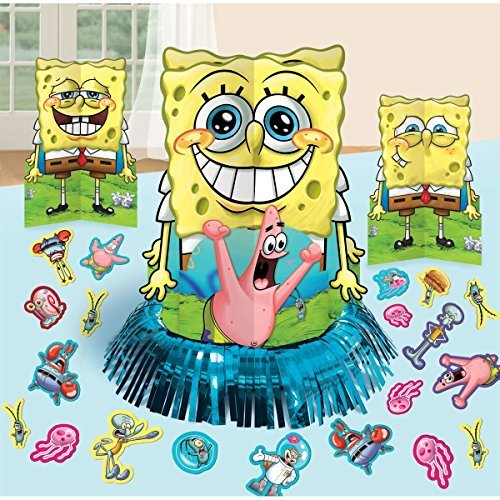 SpongeBob SquarePants Party Table Decorations Kit ( Centerpiece Kit ) 23 PCS - Kids Birthday and Party Supplies Decoration by SpongeBob SquarePants