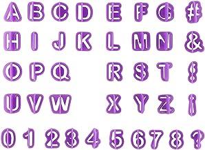 1Set 40Pcs Purple Alphabet Number Letter Fondant Cake Decorating Cookie Cutter Pan Mold Biscuit Cutter Mold