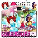 Toys World Shop Fashion Sketch Book Super Style Girls 100+ Stickers & Stencils,...