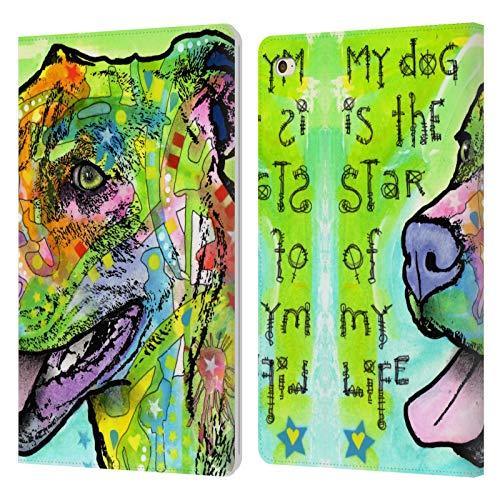 Head Case Designs Oficial Dean Russo La Estrella de mi Vida Perros 6 Carcasa de Cuero Tipo Libro Compatible con Apple iPad Mini 4