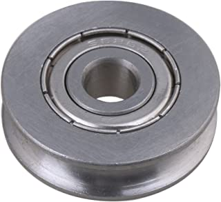 BQLZR 6x25x7mm 440C Stainless Steel Bearing Passive Round Guide Pulley Wheel Rail Roller Load 167KG for Steel Wire Rope Idler Wheel
