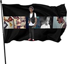 dfjdfjdjf Banderas Pancartas Wiz Khalifa Single-Sided Printed,Durable & Fade Resistant,3X5 Feet Banner Garden Flag