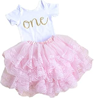 Pink First Birthday Outfit for Baby Girl, First Birthday Onesie Baby's First Birthday