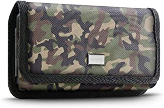 Evocel [Urban Pouch Pro] Tactical Carrier with [Belt Loop & Holster] (6.50 in x 3.27 in x 0.37 in) fits Galaxy Note 8, S8 Plus, Galaxy Mega, iPhone 7 Plus, ZTE ZMAX XL & More, Camouflage - X-Large