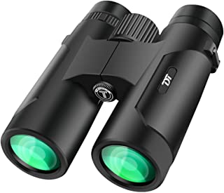 TDT 12x42 Binoculars for Adults Kids, Compact Binoculars for Hunting with Clear Weak Light Vision, Large Eyepiece Waterpro...